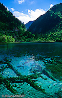 World biosphere reserve and UNESCO World Heritage site - Jiuzhaigou in Sichuan province, China is stunning alpine scenery at its very best.<br /> <br /> Images in this gallery were taken using film and are presented in small, low resolution files - high resolution scans or the original slide/negative are also available.