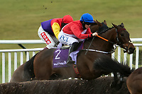 Horse Racing - 2021 National Hunt - Cheltenham Festival - Day Four - Gold Cup Day - Cheltenham<br /> <br /> Rachel Blackmore on A Plus Hard jumping in the Gold Cup.<br /> <br /> COLORSPORT/ASHLEY WESTERN