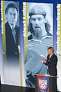 28 August 2006: Chris Henderson, current New York Red Bulls player, presented 2006 Hall of Fame inductee Philip Anshutz (not pictured) for enshrinement. The National Soccer Hall of Fame Induction Ceremony was held at the National Soccer Hall of Fame in Oneonta, New York.