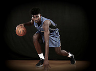 GREENBURGH, NY - AUGUST 11: (EDITORS NOTE: Image has been digitally altered)  Jonathan Isaac of the Orlando Magic during the 2017 NBA Rookie Photo Shoot at MSG Training Center on August 11, 2017 in Greenburgh, New York.   NOTE TO USER: User expressly acknowledges and agrees that, by downloading and or using this photograph, User is consenting to the terms and conditions of the Getty Images License Agreement.  (Photo by Elsa/Getty Images)