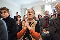 """9 December 2017, Oslo, Norway: Some 22 """"Hibakusha"""", survivors from the atomic bombings in Hiroshima and Nagasaki, joined Norwegian representatives the mayor of Oslo, principal of Oslo University, and the head of the Oslo Museum of National History for an event themed """"Seeds for Peace"""" in the Oslo Botanical Garden. As a token of hope, together they planted seeds, as part of the Nobel Peace Prize celebrations in Oslo on 9-10 December. Oslo hosts the Nobel Peace Prize award ceremony on 9-10 December 2017. The prize in 2017 goes to the International Campaign to Abolish Nuclear Weapons (ICAN), for """"its work to draw attention to the catastrophic humanitarian consequences of any use of nuclear weapons and for its ground-breaking efforts to achieve a treaty-based prohibition of such weapons""""."""