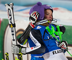 20.12.2011, Hermann Maier Piste, Flachau, AUT, FIS Weltcup Ski Alpin, Damen, Slalom Maria Hoefl-Riesch (GER) und Tina Maze (SLO) nach dem 2. Durchgang // Maria Hoefl-Riesch of Germany and Tina Maze of Slovenia after her 2nd run of Slalom at FIS Ski Alpine Worldcup at Hermann Maier Pist in Flachau, Austria on 2011/12/20. EXPA Pictures © 2011, PhotoCredit: EXPA/ Johann Groder