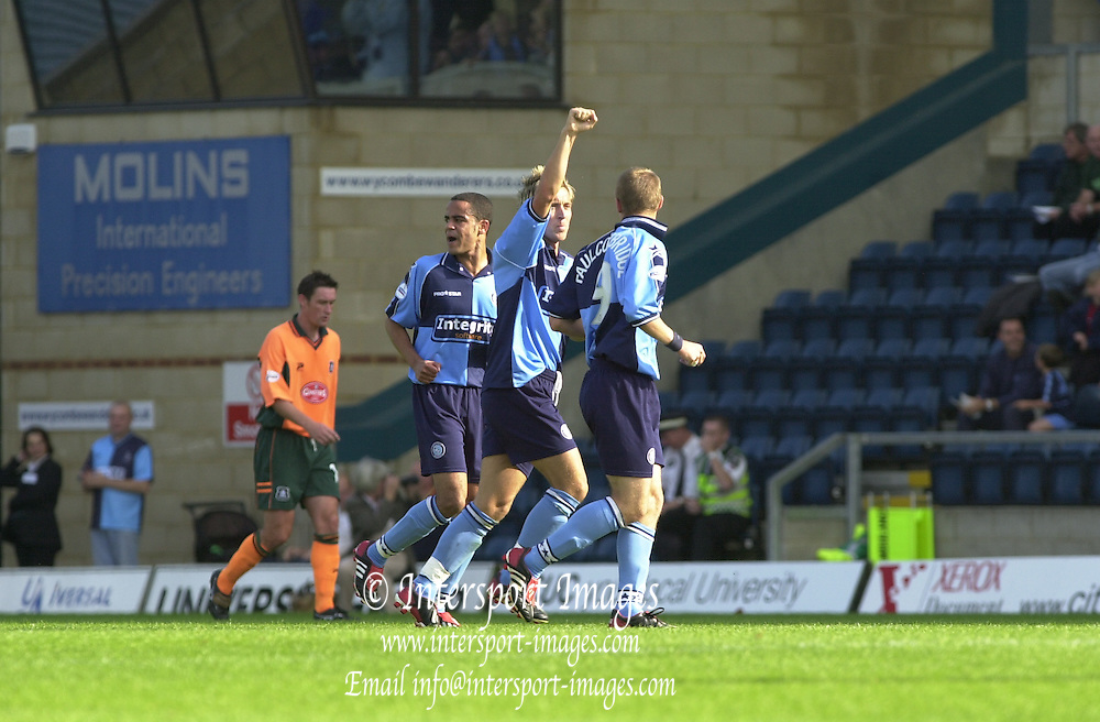 Photo Peter Spurrier.28/09/02   Nationwide Div 2 .Wycombe Wanderer's vs Plymouth Argyle.