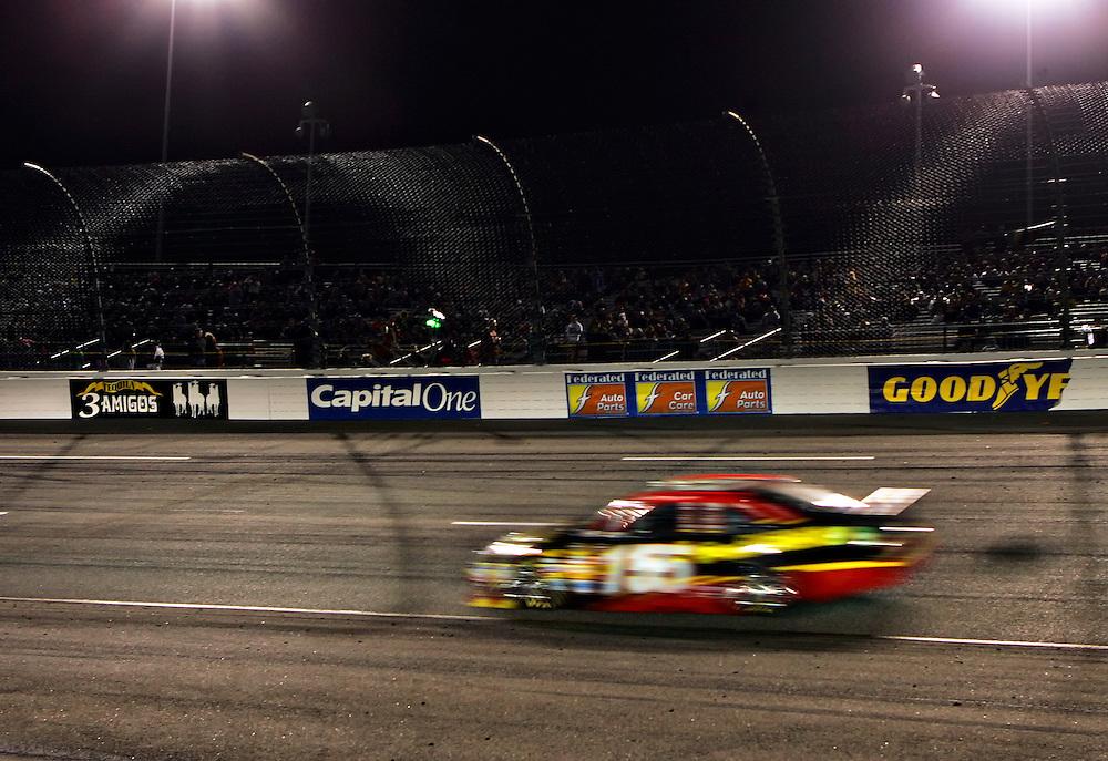 Apr 28, 2012; Richmond, VA, USA; NASCAR Sprint Cup driver Clint Bowyer (15) during the Capital City 400 at Richmond International Raceway. Mandatory Credit: Peter Casey-US PRESSWIRE.