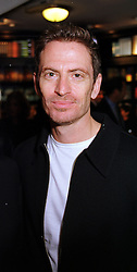 Film director JOEL HERSHMAN at a party in London on 15th September 1999.<br /> MWJ 67