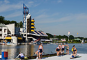 Poznan,  POLAND,  Sunday, 19/06/2016,  GBR W8+ Bow Katie Greves, Melanie Wilson, Frances Houghton, Polly Swann, Jess Eddie , Olivia Carnegie-Brown, Karen Bennett, Zoe Lee and Cox Zoe De Toledo, carry their boat after a training session, FISA World Cup III, Malta Lake.  FISA World Cup III, Malta Lake.[Mandatory Credit; Peter SPURRIER/Intersport-images]