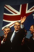 British Prime Minister, John Major launches his Conservative party election manifesto on 18th March 1992 in Brighton, England. Major went on to win the election in April that year and was the fourth consecutive victory for the Conservative Party although it was its last outright win until 2015 after Labours 1997 win for Tony Blair.