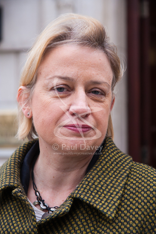 London, February 24th 2015. The Green Party's Natalie Bennett following her difficult interview by Nick Ferrari on LBC.