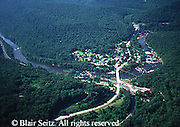 Southwest PA Aerial, Youghiogheny River, Ohiopyle Town and State Park Aerial Photograph Pennsylvania
