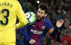 May 9, 2018 - Barcelona, Spain - Leo Messi during the match between FC Barcelona and Villarreal CF, played at the Camp Nou Stadium on 09th May 2018 in Barcelona, Spain.  Photo: Joan Valls/Urbanandsport /NurPhoto. (Credit Image: © Joan Valls/NurPhoto via ZUMA Press)