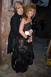 NICKY CLARKE and KELLY HOPPEN at the Stephen Webster launch party of his latest jewellery collection during the London Jewellery Week, at Wilton's Music Hall, Graces Alley, Off Ensign Street, London E1 on 12th June 2008.<br /><br />NON EXCLUSIVE - WORLD RIGHTS