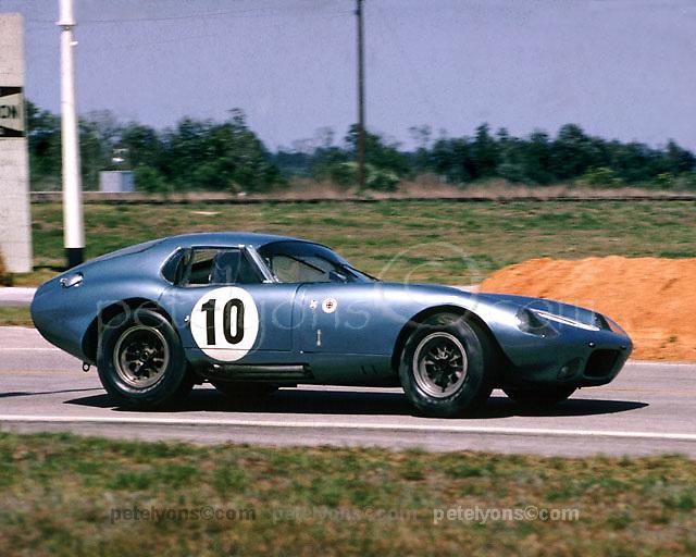 First Cobra Daytona coupe, class winner 1964 Sebring 12-hour event, photo by Ozzie Lyons / www.petelyons.com