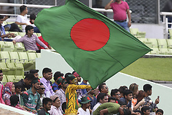 August 28, 2017 - Mirpur, Bangladesh - Bangladeshi Fans cheer during day two of the First Test match between Bangladesh and Australia at Shere Bangla National Stadium on August 28, 2017 in Mirpur, Bangladesh. (Credit Image: © Ahmed Salahuddin/NurPhoto via ZUMA Press)