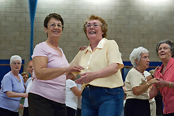 Strictly Dancing Event; Over 50's; organised jointly by Age Concern and North Tyneside Council, UK