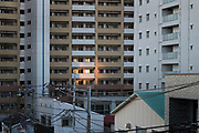 sunlight reflection coming from the window of the building across the street Yokosuka japan