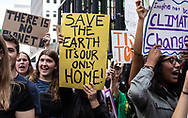 Youth participating in New York City's Climate Strike inspired by Greta Thunberg who took part in the Climate Strike March in New York City on Sept. 20, 2019 with them.