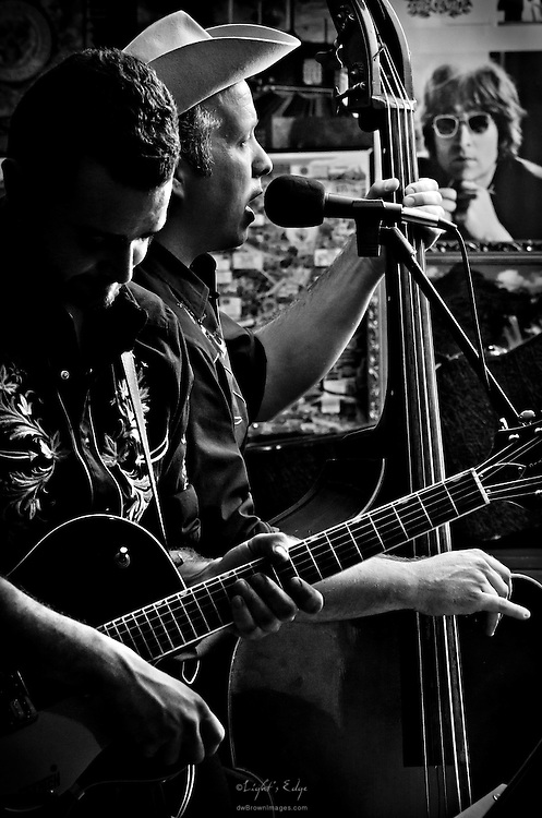 Dom and Johnny during their performance with Big Cat Chris & The Rhythm Ropers at The Bus Stop Music Cafe in Pitman, NJ.