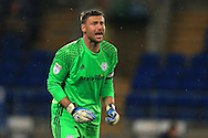 goalkeeper David Marshall of Cardiff city looks on. EFL Skybet championship match, Cardiff city v Blackburn Rovers at the Cardiff city stadium in Cardiff, South Wales on Wednesday 17th August 2016.<br /> pic by Andrew Orchard, Andrew Orchard sports photography.