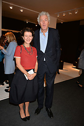 Melanie Clore and Henry Wyndham at the 2017 PAD Collector's Preview, Berkeley Square, London, England. 02 October 2017.