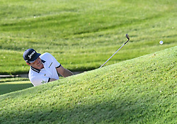 August 9, 2018 - St. Louis, Missouri, U.S. - ST. LOUIS, MO - AUGUST 09: Keegan Bradley hits out of a trap on the #10 green during the first round of the PGA Championship on August 09, 2018, at Bellerive Country Club, St. Louis, MO.  (Photo by Keith Gillett/Icon Sportswire) (Credit Image: © Keith Gillett/Icon SMI via ZUMA Press)