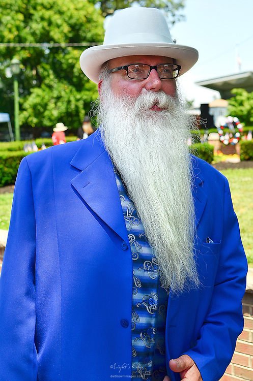Owner of the Bus Stop Music Cafe and the host of the 1st Uptown Pitman Beard & Moustache Competition, Vic Martinson.
