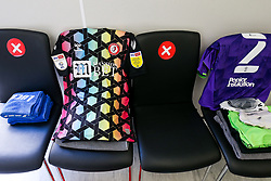 Daniel Bentley's shirt in the Bristol City dressing room - Rogan/JMP - 20/09/2020 - Bet365 Stadium - Stoke, England - Stoke City v Bristol City - Sky Bet Championship.