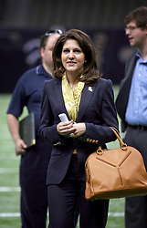 04 October 2011. New Orleans, Louisiana, USA.  <br /> NFL's New Orleans Saints announce Mercedes-Benz naming rights deal for the Louisiana Superdome.<br /> Rita Benson LeBlanc, part owner and executive VP of the Saints.<br /> Photos; Charlie Varley/varleypix.com