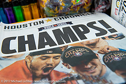 The Astros win the World Series - a million people attend the parade in Houston 50 miles away today. Lone Star Rally. Galveston, TX. USA. Friday November 3, 2017. Photography ©2017 Michael Lichter.