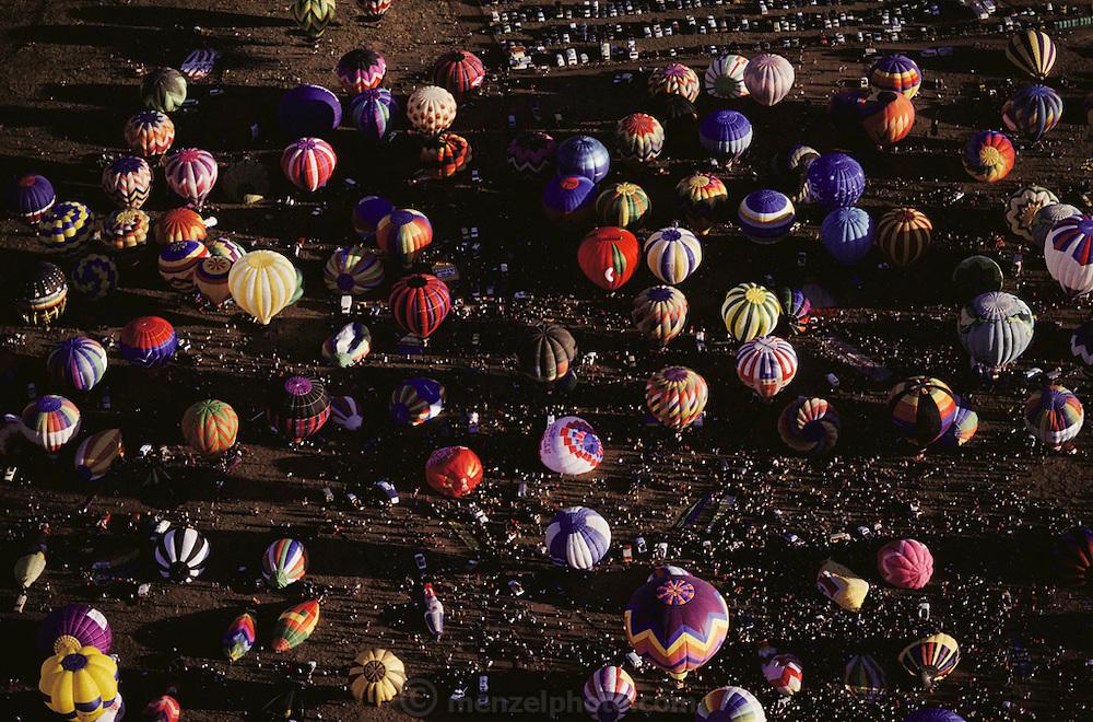 Gathering of hot air balloons, Albuquerque, New Mexico, USA.