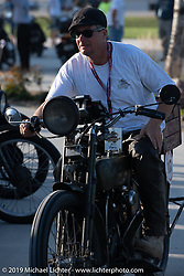 Todd Cameron riding his 1917 Harley-Davidson Model J in the Motorcycle Cannonball coast to coast vintage run. Stage 7 (274 miles) from Cedar Rapids to Spirit Lake, IA. Friday September 14, 2018. Photography ©2018 Michael Lichter.