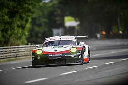 June 4, 2017 - Le Mans, France - 92 PORSCHE GT TEAM  (DEU) PORSCHE 911 RSR LMGTE PRO  MICHAEL CHRISTENSEN (DNK) KEVIN ESTRE (FRA) DIRK WERNER  (Credit Image: © Panoramic via ZUMA Press)