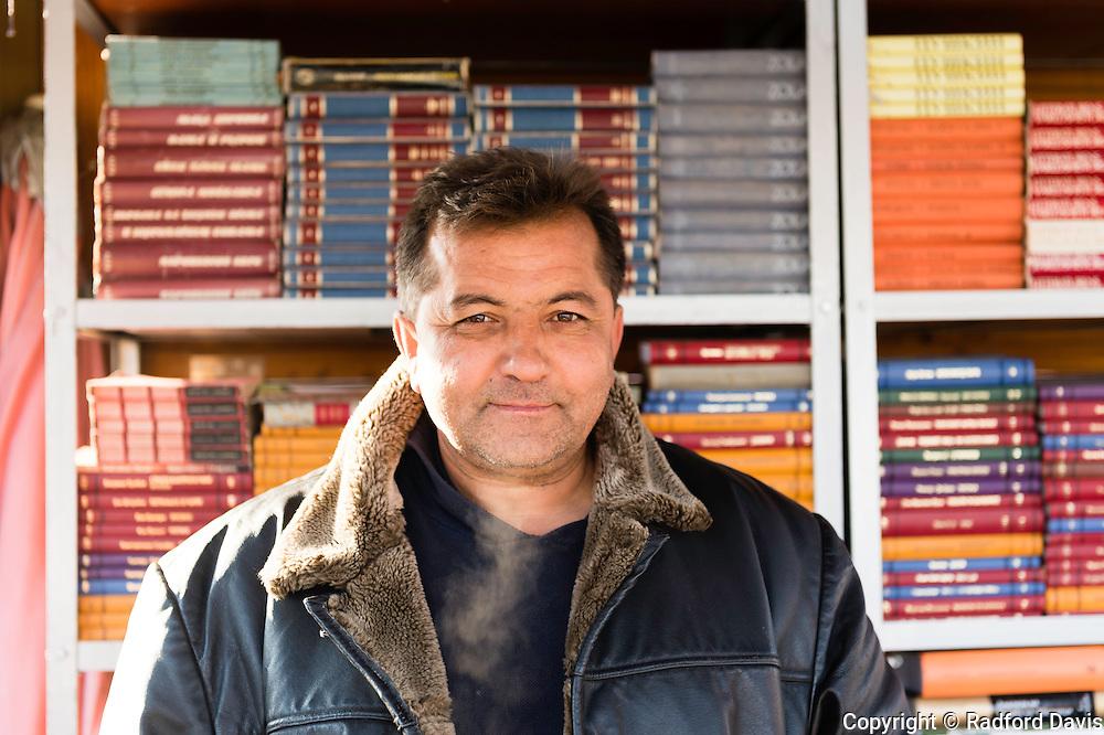 Book seller, Skopje, Macedonia