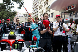 May 26, 2019 - Monte Carlo, Monaco - Motorsports: FIA Formula One World Championship 2019, Grand Prix of Monaco, ..Mechanic of Mercedes AMG Petronas Motorsport pay  tribute to Niki Lauda (22.02.1949 - 20.05.2019) (Credit Image: © Hoch Zwei via ZUMA Wire)