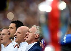 France Manager Didier Deschamps sings the national anthem behind the Henri Delaunay Trophy - Mandatory by-line: Joe Meredith/JMP - 10/07/2016 - FOOTBALL - Stade de France - Saint-Denis, France - Portugal v France - UEFA European Championship Final