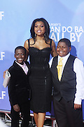 l to r: Kwesi Boakye, Taraji P. Henson, and Freddy Siglar at Tyler Perry's special New York Premiere of ' I Can Do Bad all By Myself ' held at the School of Visual Arts Theater on September 8, 2009 in New York City.