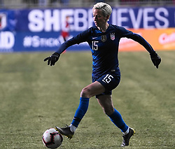 February 28, 2019 - Chester, United States - Megan Rapinoe of The United States .during the She Believes Cup football match between The United States and Japan at Talen Energy Stadium on February 27, 2019 in Chester, Pennsylvania, United States. (Credit Image: © Action Foto Sport/NurPhoto via ZUMA Press)