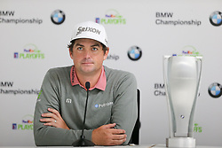 September 10, 2018 - Newtown Square, Pennsylvania, United States - Keegan Bradley speaks to the media after winning the 2018 BMW Championship. (Credit Image: © Debby Wong/ZUMA Wire)