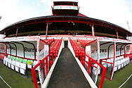 The old Players Tunnel and Stand inside the stadium prior to the EFL Sky Bet League 1 match between Barnsley and Charlton Athletic at Oakwell, Barnsley, England on 29 December 2018.