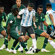 Argentina midfielder Ever Banega (C) and Nigeria midfielder John Obi Mikel (R) during the 2018 FIFA World Cup Russia, Group D football match between Nigeria and Argentina on June 26, 2018 at Saint Petersburg Stadium in Saint Petersburg, Russia - Photo Stanley Gontha / Pro Shots / ProSportsImages / DPPI
