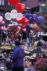 Ballons at city parade. Stock photo