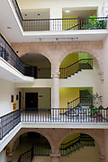 Expensive Hotel in Havana, Cuba, stairways and columns.