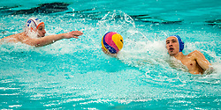 Jorn Muller of the Netherlands in action against Romania during the Olympic qualifying tournament. The Dutch water polo players are on the hunt for a starting ticket for the Olympic Games on February 16, 2021 in Rotterdam