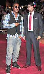 © Licensed to London News Pictures. 23/10/2011. London,England. Ashley Walters and Nirpal Bhogal  attends the 55th British Film Festival in Leicester square London  Photo credit : ALAN ROXBOROUGH/LNP