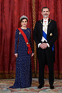 041618 Spanish Royals and Preisdent of Portugal Attend a Gala Dinner