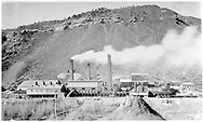 """San Juan & New York Mining Smelter - Later American Smelter as viewed from across the Animas River.<br /> D&RGW  Durango, CO  ca. 1930<br /> In book """"Durango: Always a Railroad Town (1st ed.)"""" page 12"""