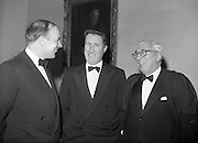 20/2/1959<br /> 02/20/1959<br /> 20 February 1959<br /> <br /> Mr Donal O'Morain of Gal Linn and two unamed gentelman speaking at the Cunmann Gaelach Inaugural