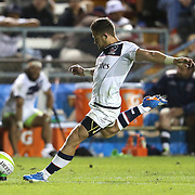 JP Eloff (10) of the United States attempts a kick during the 2016 Americas Rugby Championship match at Lockhart Stadium on Saturday, February 20, 2016 in Fort Lauderdale, Florida.  (Alex Menendez via AP)