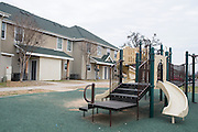 An empty playground at the Frazier Fellowship in Dallas, Texas on January 21, 2015. (Cooper Neill for The New York Times)