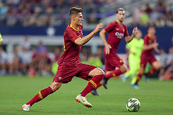 July 31, 2018 - Arlington, TX, U.S. - ARLINGTON, TX - JULY 31: AS Roma forward Patrik Schick (14) handles the ball during the International Champions Cup between FC Barcelona and AS Roma on July 31, 2018 at AT&T Stadium in Arlington, TX.  (Photo by Andrew Dieb/Icon Sportswire) (Credit Image: © Andrew Dieb/Icon SMI via ZUMA Press)
