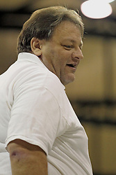 21 September 2013:  Bob Poyer during an NCAA women's division 3 Volleyball match between the Lincoln Christian University Lady Lynx and the Illinois Wesleyan  University Titans in Shirk Center, Bloomington IL